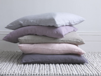 Linen large feather filled Scrunch cushions