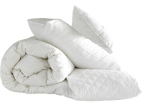 Luxury feather filled down duvet, pillows and mattress protector