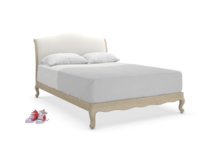Beautiful Coco French inspired style upholstered wooden bed