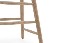 Oak kitchen stool with comfy contoured seating