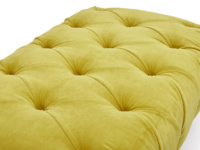 Handmade Dimple rectangle upholstered chesterfield footstool