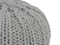 British made knitted rope Bug pouffe footstool