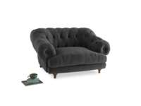 Bagsie Love Seat in Shadow Grey wool