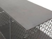 Mish-Mesh industrial metal sideboard and a wire bookcase or storage unit