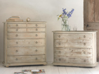 Aurelie French bedroom chest of drawers in reclaimed fir