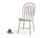 Comfy vintage style Bossy chair with natural cotton seat cushion