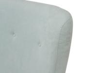 Smoke upholstered handmade headboard