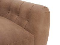 Butterbump button back chair and chesterfield love seat
