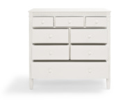 Ludo childrens white wooden bedroom chest of drawers