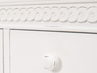 Painted Ludo bedroom chest of drawers in off-white