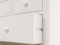 Bedroom kids Ludo chest of drawers painted in off-white