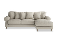 Comfy Crumpet chaise corner sofa, extra deep and comfy handmade in Britain