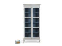 Flummery wooden glass storage cabinet