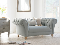 Young Bean British made comfy chesterfield love seat