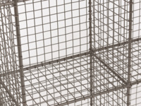 Waffle British made strong industrial style wire shelving