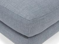 Upholstered handmade padded Blade footstool