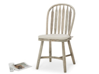 Bossy Beached beautiful curved back traditional vintage dining chair made in beached elm