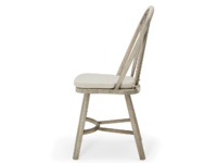 Traditional farmhouse Bossy Beached kitchen chair with beautiful curved back