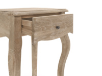 French style Mimi bedside table, with curved French style legs in reclaimed fir