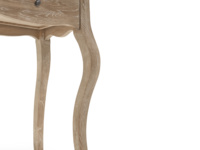 Mimi French style bedside table with elegant curve legs in a French antique inspired design