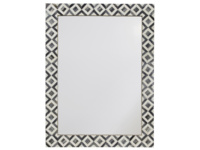 Handmade Bone inlay Banyan monochrome wall mirror