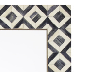 Banyan monochrome handmade bone inlay wall mirror