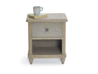 Vintage style Polder grey painted wooden bedside table