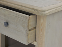 Painted grey Polder vintage style wooden bedside table