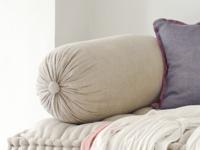 Authentic linen large handmade Bolster cushion