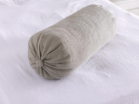 Linen British made authentic large handmade Bolster cushion