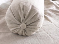 Large handmade beautiful authentic Bolster linen cushion
