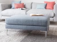 Blade handmade upholstered British made footstool