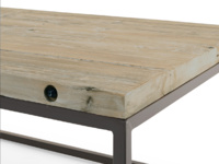 Industrial vintage style Postino cube side table made from reclaimed wood and metal
