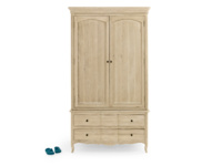 French antique style Pascale wooden wardrobe with lots of handy storage