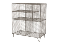 Free standing Low Wire industrial style wire shelves