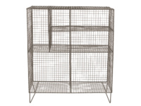 Free standing British made Low Wire industrial wire shelving