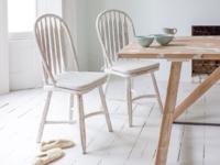 Beautiful hoop back white kitchen Bossy chairs
