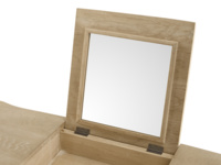 Thelma oak French style dressing table with mirror