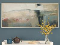 Picnic framed art canvas print by Ben Lowe