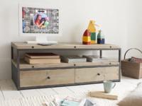 Reclaimed wooden industrial Hercule TV stand