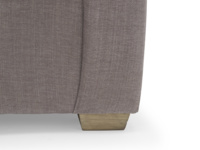 Contemporary luxury Pavilion sofa with weathered beech legs, extra deep and comfy handmade in Britain
