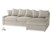 Comfy, deep seated luxury Cloud chaise corner sofa