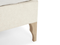 Beautiful french style Luna bed comes with solid oak legs with a lovely weathered finish