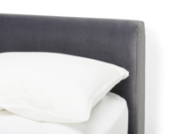 Contemporary Chrome luxury upholstered bed