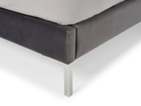 Contemporary style upholstered luxury Chrome bed