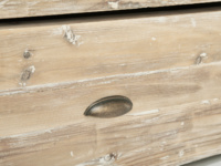 Beautiful wooden Woody bed with storage drawers and bronze handles