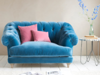 Chesterfield British made Bagsie love seat and snugler