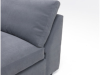 Space saving Chatnap sectional single sofa seat with handy storage space and no arms
