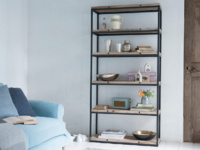 British made High Five beautiful wooden shelving unit
