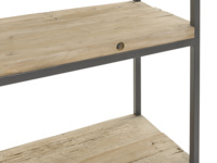 British hand made High Five industrial reclaimed wooden shelving unit